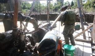Madre de Dios: fuerzas del orden destruyen material de mineros ilegales