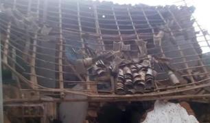 Dos ancianos se salvan de morir tras derrumbe de su vivienda en La Libertad
