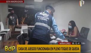 Miraflores: clausuran casa de juegos que funcionaba en pleno toque de queda
