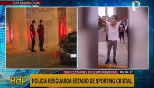 PNP resguarda estadio de Sporting Cristal tras amenazas de atentado