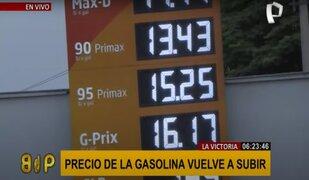 Precio de la gasolina se incrementa debido a la disminución de la demanda