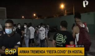 Callao: decenas de jóvenes fueron intervenidos en fiesta covid en un hostal