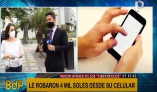 Mujer denuncia robo de 4 mil soles de sus cuentas bancarias desde su celular