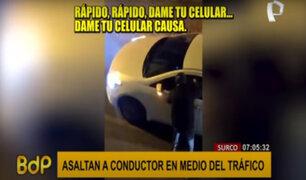 Surco: delincuentes aprovechan tráfico para robar a pasajeros y transeúntes
