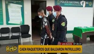 PNP captura a delincuentes que balearon a patrullero