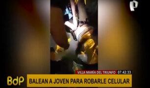 VMT: balean a joven estudiante para robarle su teléfono celular