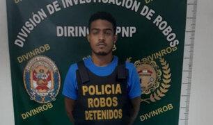 SMP: detienen a delincuente 'Caraqueño' que asaltó a turista en una tienda en Miraflores