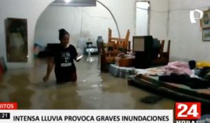 Iquitos: lluvia con relámpagos y truenos inundó la ciudad