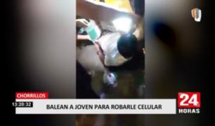 Balean a joven para robarle su celular en Chorrillos