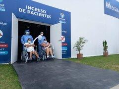 65 pacientes que vencieron el coronavirus fueron trasladados a Villa Rebagliati
