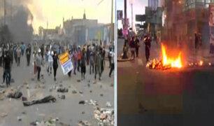 Transportistas bloquean Carretera Central en segundo día de paro indefinido