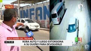 VMT: hombre viene siendo extorsionado por delincuente que le robó su auto