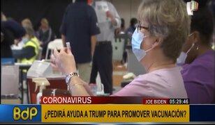 Estados Unidos: Joe Biden pediría ayuda a Donald Trump para evitar contagios por COVID-19