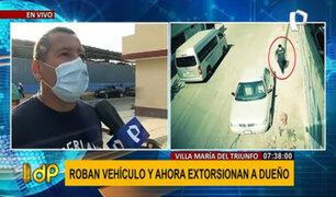 VMT: denuncian robo de vehículo y extorsión de hasta 4 mil soles