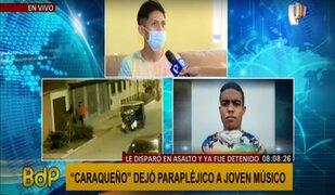 """Joven músico que quedó parapléjico tras ataque de """"Caraqueño"""" pide ayuda"""