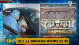 """Conoce el """"autovacunatorio"""" más grande del país, ubicado en el Estadio Monumental"""