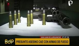 SJL: Policía detiene a presunto asesino con armas de fuego en su poder
