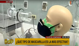 COVID-19: investigadores peruanos desarrollan sistema para medir eficacia de las mascarillas