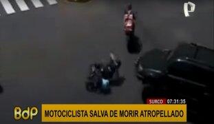Surco: motociclista es atropellado luego de caer accidentalmente en el pavimento