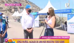 """""""Lima Te Cuida Joven"""" llegó a VMT: alcalde Muñoz nos muestra cómo se realizan descartes de COVID-19"""