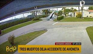 Estados Unidos: avioneta choca contra automóvil dejando 3 muertos y un herido