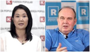 """Keiko Fujimori sobre Rafael López Aliaga: """"Me hubiera gustado debatir con él"""""""
