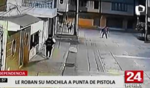Independencia: cámaras captan asalto a joven cerca a Av. Túpac Amaru