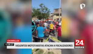 Violentos mototaxistas atacaron a fiscalizadores en Chorrillos