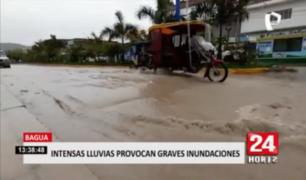 Intensas lluvias provocan graves inundaciones en Bagua