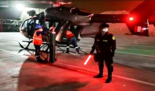 PNP trasladó oxígeno en helicópteros hacia Hospital de Huaycán