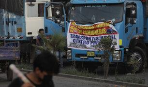 Paro de transportistas continúa luego que MTC y gremios no llegaron a un acuerdo
