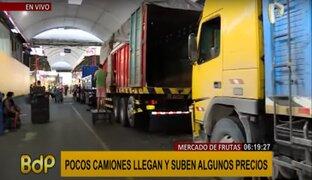Abastecimiento de frutas se ve afectado debido a paro de transportistas