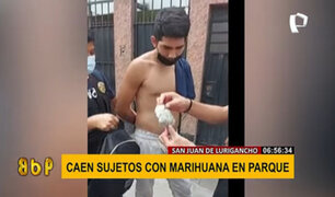 SJL: intervienen a dos presuntos comercializadores de marihuana en un parque