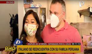 Separados por el COVID-19: familia se reúne luego de 10 meses de estar alejados