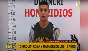 Barrios Altos: capturan a avezado delincuente juvenil 'Chirolo'
