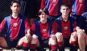 """Messi cuando era """"el enano"""": aparecen imágenes inéditas de su paso por la Masía"""