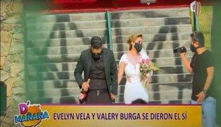 Evelyn Vela se casó y Melissa Klug brilló por su ausencia en la boda
