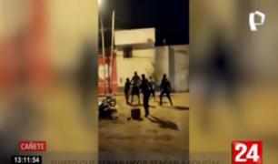 Cañete: atacan a policías que los intervinieron por beber en la calle