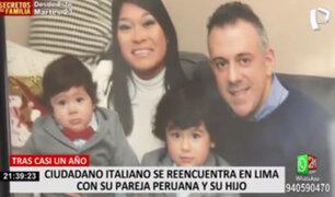 Ciudadano italiano se reencuentra con su familia luego de un año separados por la pandemia