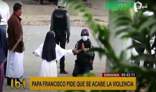 """Papa Francisco se une al pedido de """"¡basta de violencia!"""" en Birmania"""