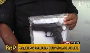 ¡Increíble! raqueteros usaban pistola de juguete para asaltar