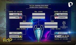 Champions League: así quedaron los partidos para los cuartos de final
