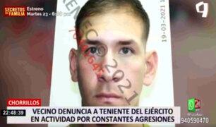 Chorrillos: vecino denuncia a teniente del Ejercito por constantes agresiones