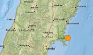 Un terremoto de magnitud 7,2 remeció el noreste de Japón