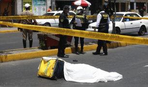 SMP: delincuente  asesina a balazos  a joven  que trasladaba varios celulares de alta gama