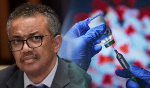 OMS insta a renunciar a las patentes de vacunas para detener la pandemia
