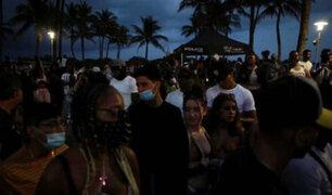 Covid-19: decretan toque de queda en Miami Beach ante incontrolables fiestas
