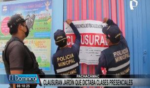 Pachacámac: clausuran jardín de niños por brindar clases presenciales