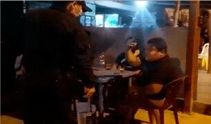 Huachipa: intervienen a decenas de personas bebiendo licor en pleno toque de queda