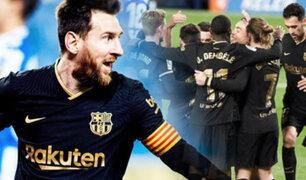 Barcelona con doblete de Messi goleó 6-1 a Real Sociedad
